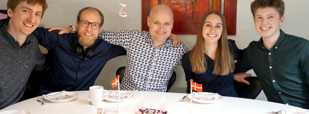 Vi fejrede Stella Care's fødselsdag, ved at donere 4.000 kr.